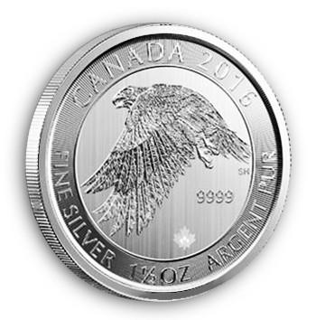 1,5 oz Silber Canada Snowfalcon ( diff.besteuert nach §25a UStG )