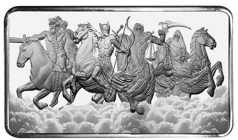 10 oz Silber Barren Four Horsemen of the Apocalypse  ( 19% Mwst )