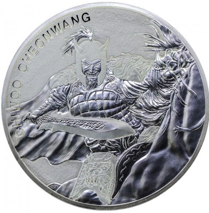 "10 oz Silber Korea "" Chiwoo Cheonwang "" in Kapsel  2018 1te Ausgabe - max Auflage 500"