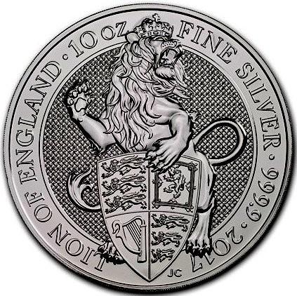 "10 oz Silber Royal Mint / Queen's Beast "" Lion of England "" in Kapsel ( diff.besteuert nach §25a UStG ) d Kingdom"