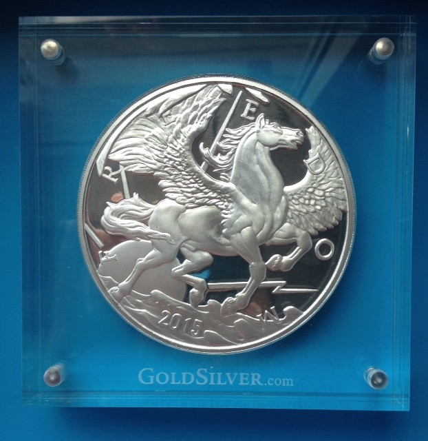 """10 oz Silber """" Pegasus 2014 """" Modern Ancients by Mike Maloney ( 19% Mwst )"""