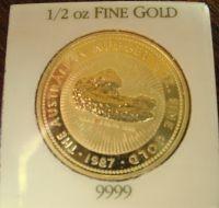 1/2 oz Gold Nugget Australien ( 1987 - 1989 )