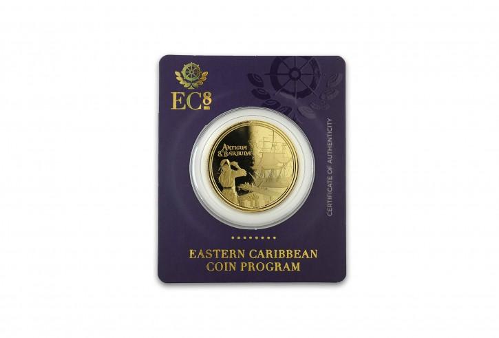 1 oz Gold Antigua & Barbuda Rum Runner 2019 / 2te Ausgabe Scottsdale Mint / in Certi-Card ( Auflage 2.500 )