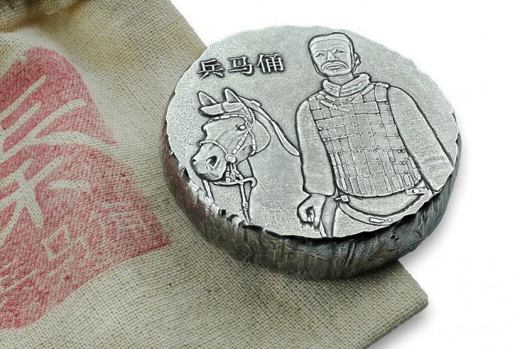 5 oz Silber Terracotta Army 2019 inkl. Säckchen & COA / Scottsdale Mint ( diff.besteuert nach §25a UStG )