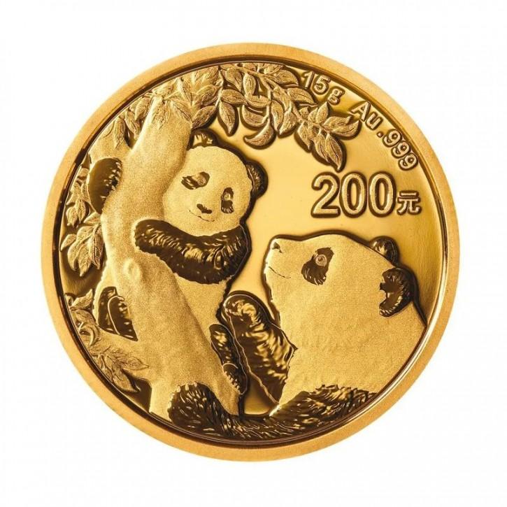 15 Gramm Gold Panda 2021 in Folie