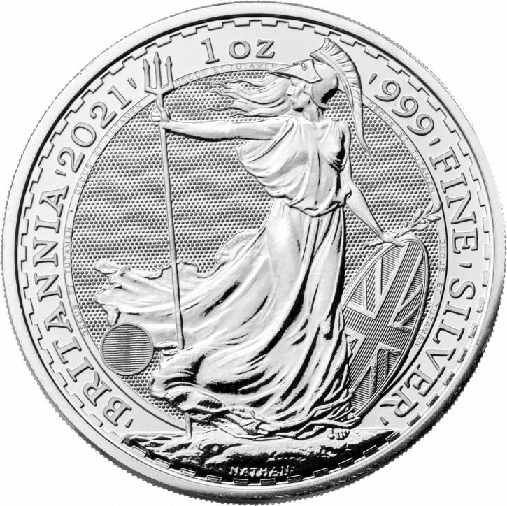 1 oz Silber Britannia 2021 - LZ: ca. 2tes Drittel Juni  ( diff.besteuert nach §25a UStG )