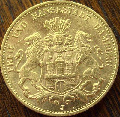 20 Mark Hamburg - 7,16 Gramm Gold fein