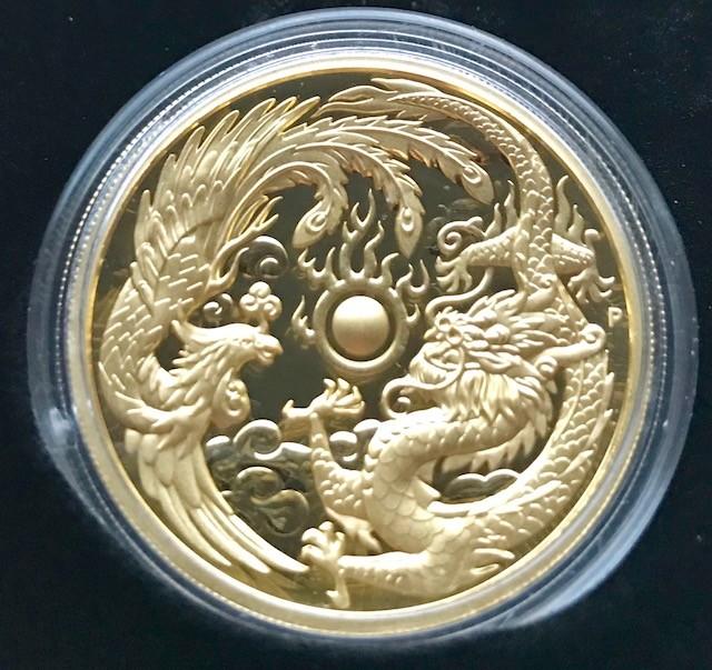 2 oz Gold Dragon & Phoenix Perth Mint Ultra High Relief  inkl. BOX/COA - max. Auflage 500