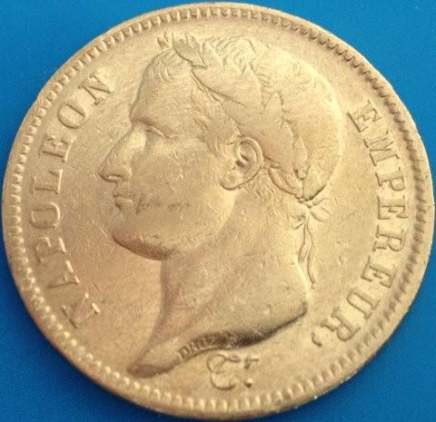 40 Francs Frankreich diverse Jahre ( 11,62 Gramm Gold fein )