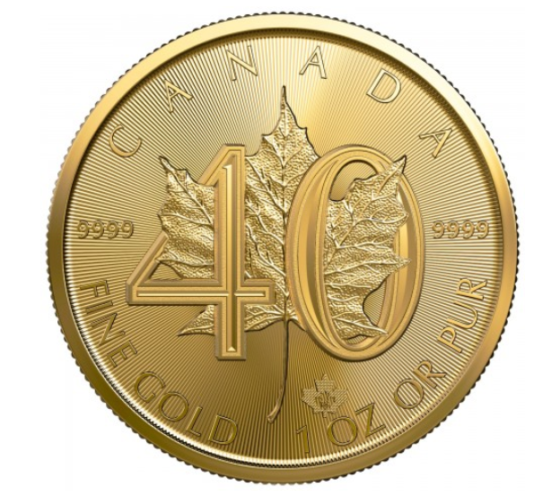 "1 oz Gold Maple Leaf "" 40 Jahre Maple Leaf "" - max. 15.000"