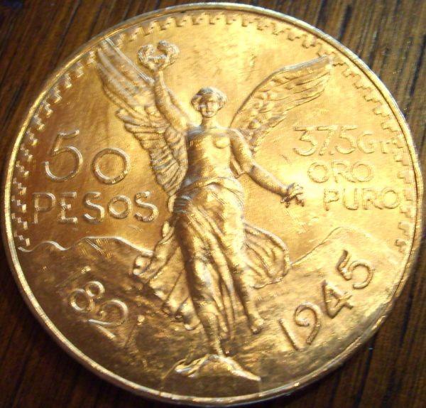 50 Mexiko Pesos  (37,5 g Gold fein)