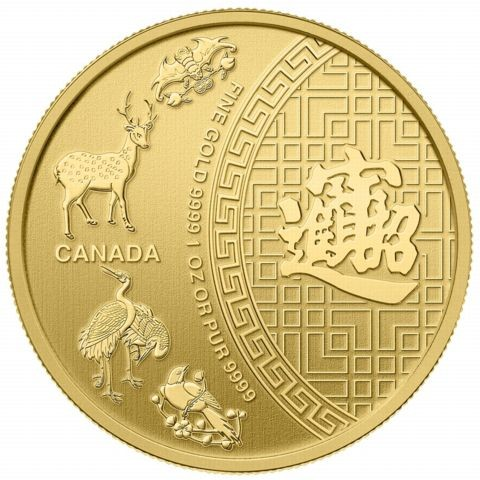 "1/10 oz Gold Royal Canadian Mint "" 5 Blessings 2014 """