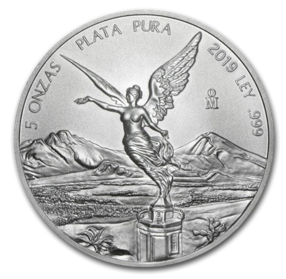 5 oz Silber Libertad Mexiko 2019 ( diff.besteuert nach §25a UStG )