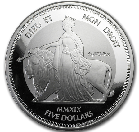 "5 oz Silber British Virgin Islands "" Una & the Lion "" Frosted - max 1.000 ( diff.besteuert nach §25a UStG )"