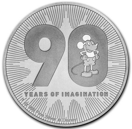 1 oz Silber New Zealand Mint Disney 90 Jahre Mickey Mouse - max 90.000 Auflage ( diff.besteuert nach §25a UStG )