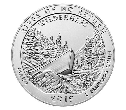 "5 oz Silber USA "" America the beautiful "" Frank Church River - Idaho ( diff.besteuert nach §25a UStG )"