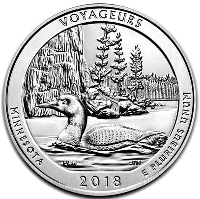 "5 oz Silber USA "" America the beautiful "" Minnesota "" Voyageurs diff.besteuert nach §25a UStG ) - LZ: ca Mitte /Ende 06"