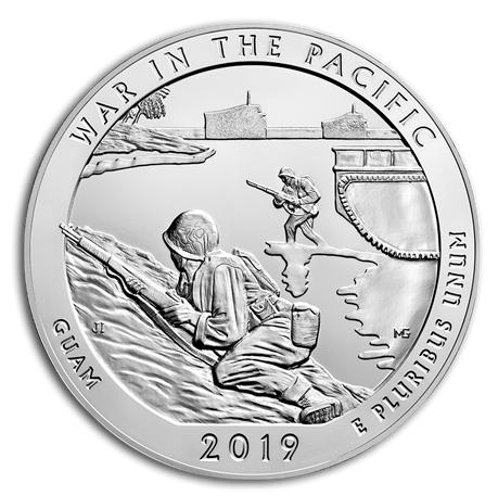 "5 oz Silber USA "" America the beautiful "" War in the Pacific - Guam ( diff.besteuert nach §25a UStG )"