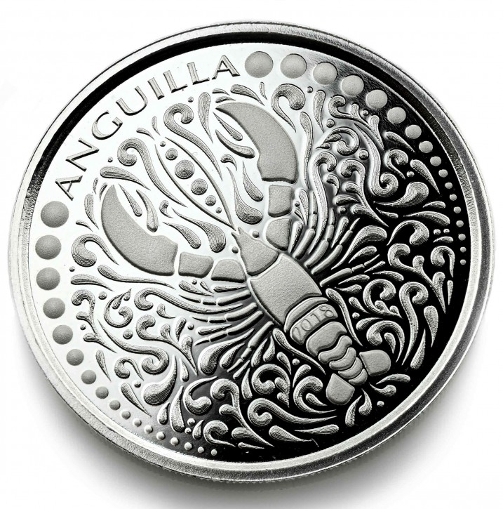 "1 oz Silber Anguilla "" Lobster "" Scottsdale Mint / Prooflike in Kapsel ( diff.besteuert nach §25a UStG )"