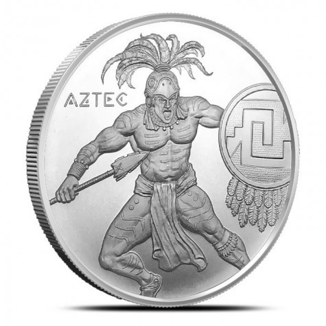 """1 oz Silber Warrior Series """" Aztec Warrior """" ( 19% Mwst )"""