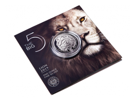 "1 oz Silber Lion in Blister "" Big Five "" South African Mint - max 15.000 ( diff.besteuert nach §25a UStG )"