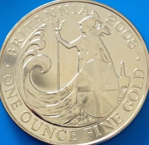 1/2 oz Gold Britannia 2008