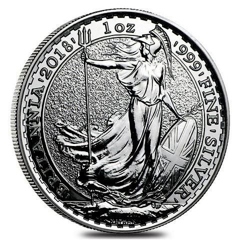 1 oz Silber Britannia 2018 ( diff.besteuert nach §25a UStG )