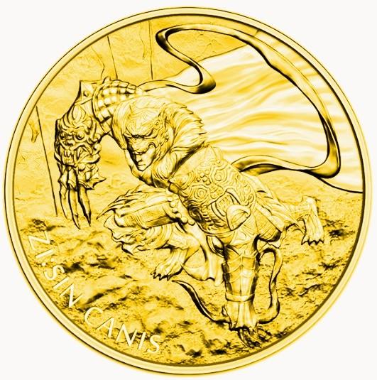 """1 oz Gold Korea """" Canis """" 2018 ( Komsco ) - Auflage max 1.200"""