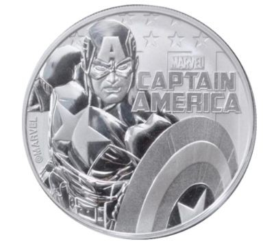 "1 oz Silber Perth Mint "" Captain America - Marvel Comics "" in Kapsel ( diff.besteuert nach §25a UStG )"