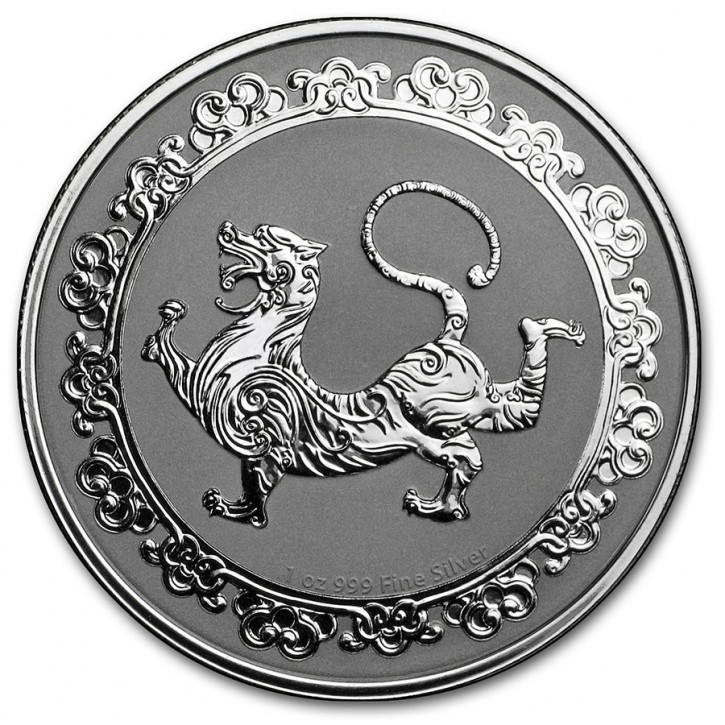 """1 oz Silber New Zealand Mint Niue """" The White Tiger """" 2019 """"  in Kapsel - max 10.000 ( diff.besteuert nach §25a UStG )"""