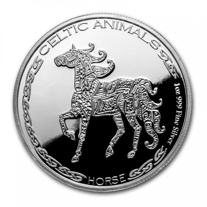 "1 oz Silber Chad 2020 Celtic Animals Series "" Horse - max. Mintage 5.000 ( diff.besteuert nach §25a UStG )"