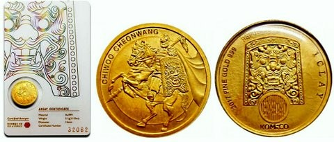 1/10 oz Gold Südkorea