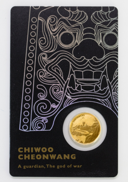 1/10 oz Gold Korea Chiwoo Cheonwang schwarz 2018 inkl. Card ( Komsco ) - max. 1250