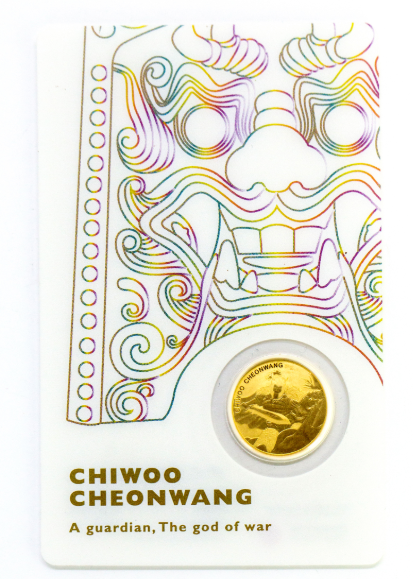 1/10 oz Gold Korea Chiwoo Cheonwang weiss 2018 inkl. Card ( Komsco ) - max. 1250
