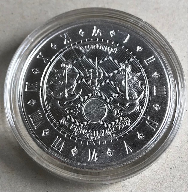 "1 oz Silber Tokelau "" Chronos 2021 "" BU - max. 30.000 ( diff.besteuert nach §25a UStG )"