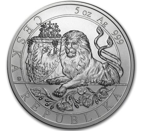 5 oz Silber Czech Lion 2019 - max. Mintage 500 ( diff.besteuert nach §25a UStG )