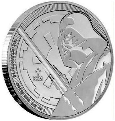 "1 oz Silber New Zealand Mint "" Darth Vader with Lightsaber "" 2018 ( diff.besteuert nach §25a UStG ) - LZ Mitte / Ende Juli"