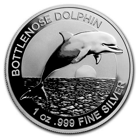 "1 oz Silber Australien "" Delfin / Dolphin "" in Kapsel 2019 - max. 25.000 Stk ( diff.besteuert nach §25a UStG )"