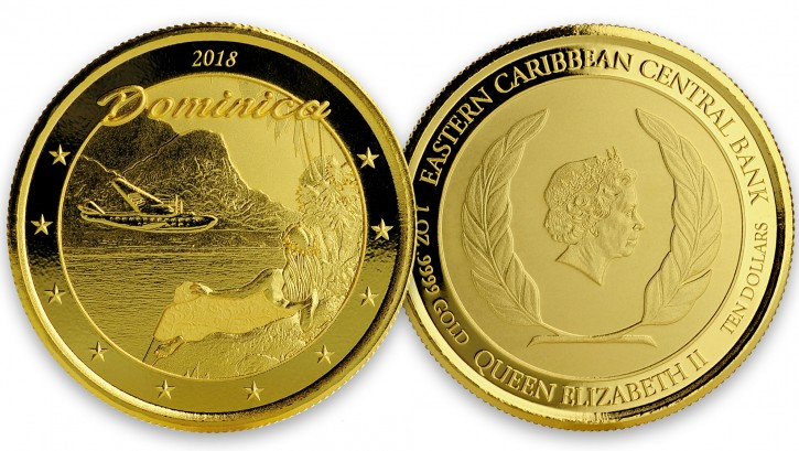 "1 oz Gold Dominica "" The Nature Isle "" Scottsdale Mint / in Certi-Lock ( Auflage 2.500 )"