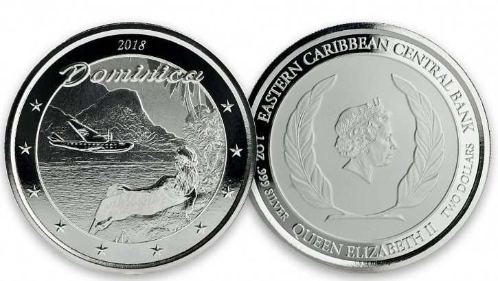 "1 oz Silber Dominica "" The Nature Isle "" Scottsdale Mint / Prooflike in Kapsel ( diff.besteuert nach §25a UStG ) - max 25.000 Stk"