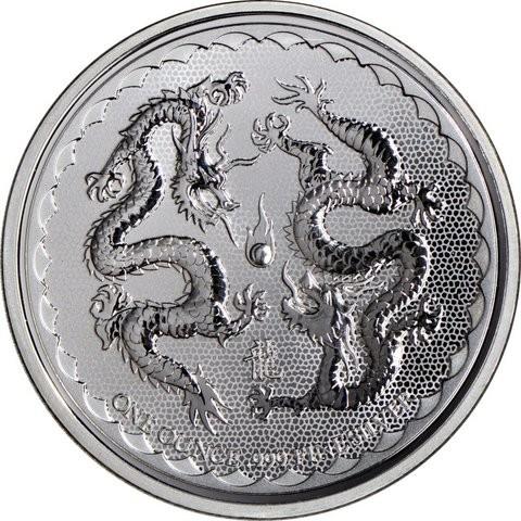 "1 oz Silber Niue ""  Double Dragon "" 2018  ( diff.besteuert nach §25a UStG )"