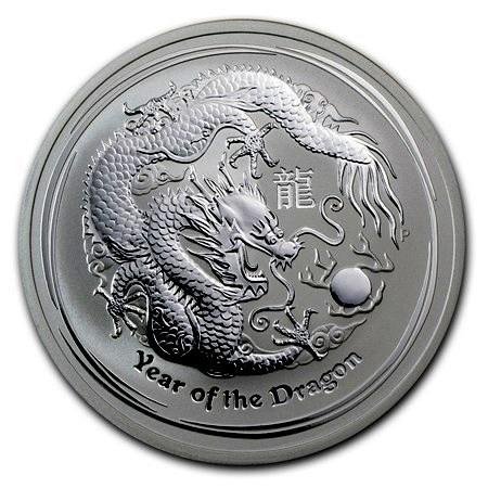 1 oz Silber 2012 Lunar Drache ( diff.besteuert nach §25a UStG )