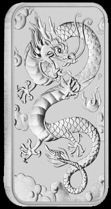 "1 oz Silber Perth Mint "" Dragon "" Silber Coin Bar 2019 ( diff.besteuert nach §25a UStG )"