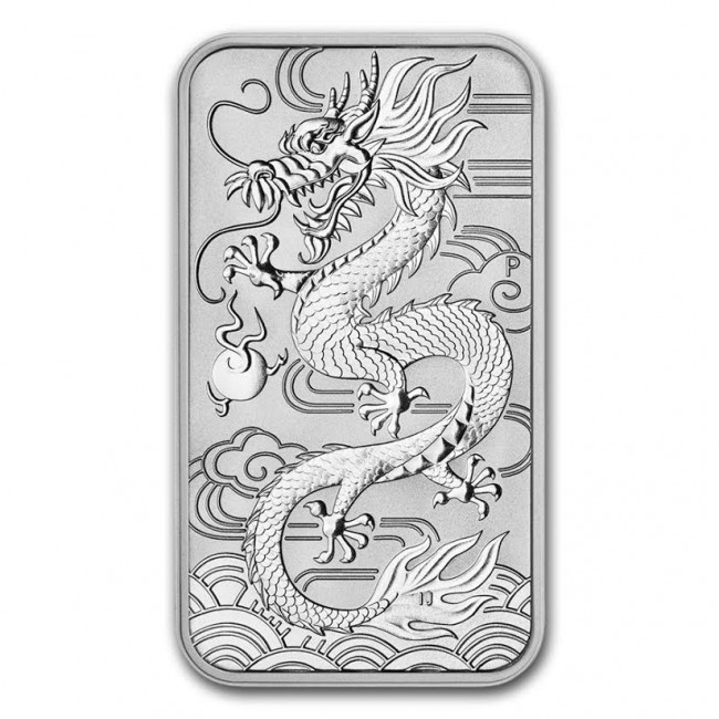 "1 oz Silber Perth Mint "" Dragon "" Silber Coin Bar 2018 ( diff.besteuert nach §25a UStG )"