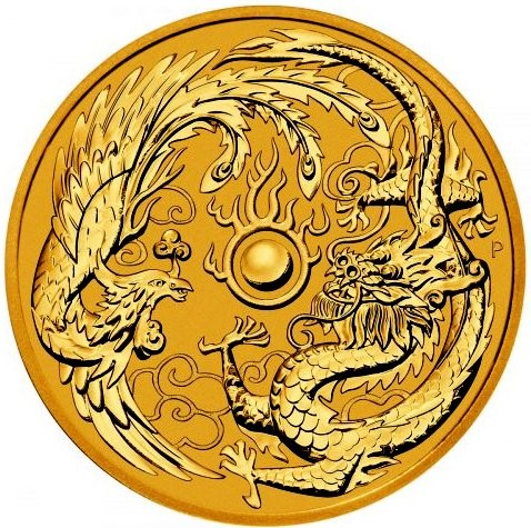 1 oz Gold Dragon & Phoenix 2018 Perth Mint - max. Auflage 5.000