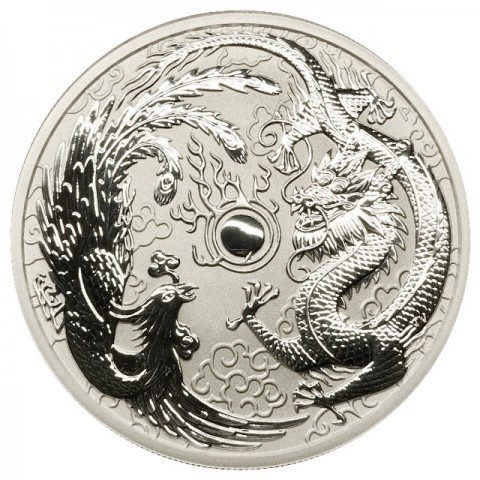 "1 oz Silber Perth Mint "" Dragon & Phoenix "" in Kapsel - max. Auflage 50.000  ( diff.besteuert nach §25a UStG )"