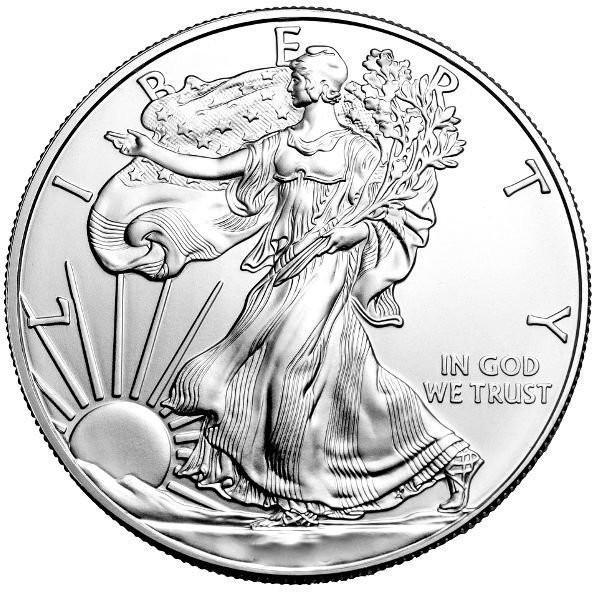 1 oz Silber Eagle 2008 ( diff.besteuert nach §25a UStG )