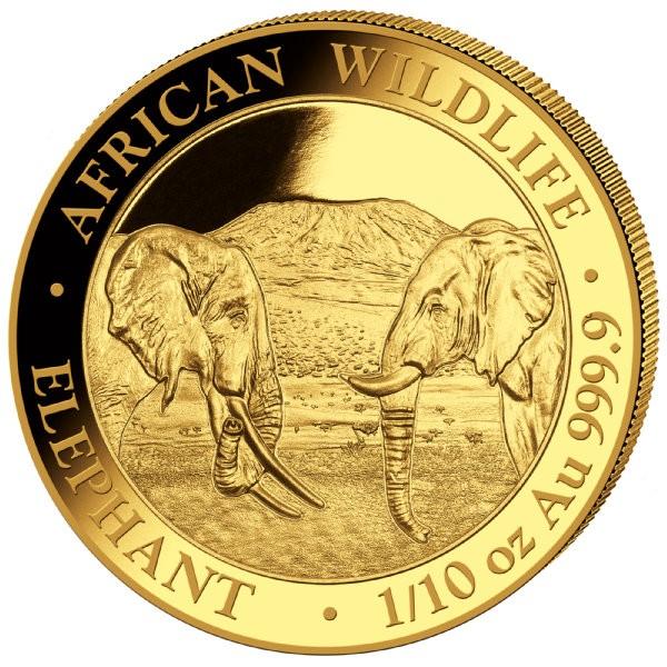 1 oz Gold Somalia Elefant 2020