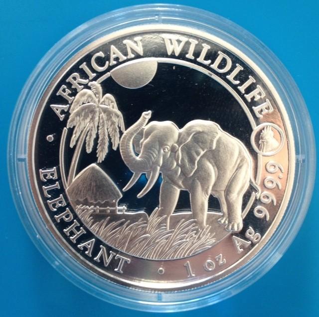 1 oz Silber Somalia Elefant 2017