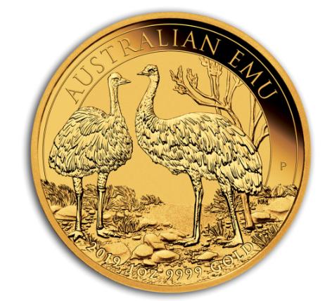 "1 oz Gold "" Emu 2019 "" Perth Mint in Kapsel"